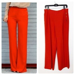 Zara Gokd Button Wide Leg Trouser